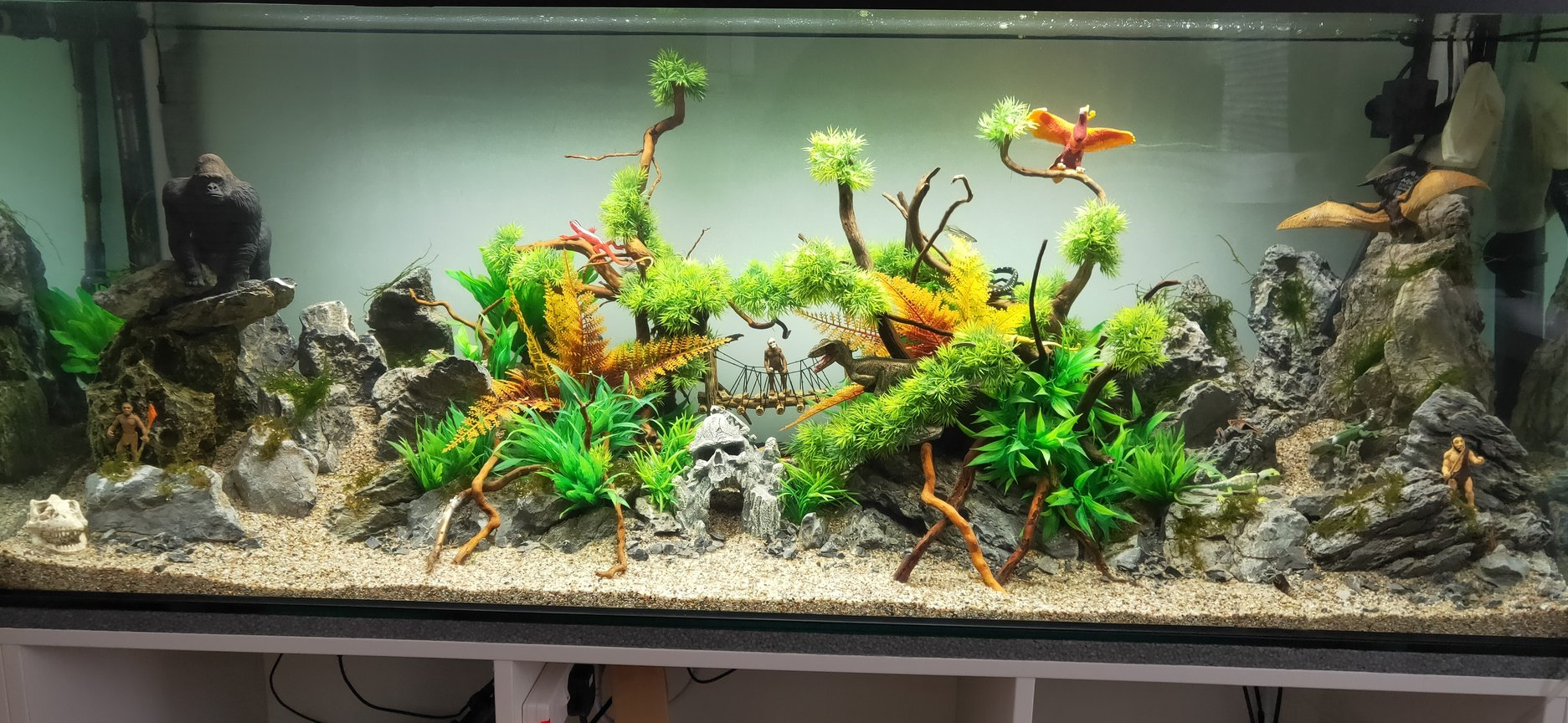 75 gallons freshwater fish tank (mostly fish and non-living decorations) - my tank